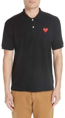 Comme des Garcons Heart Logo Polo