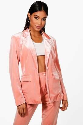 boohoo Premium Velvet Suit Blazer