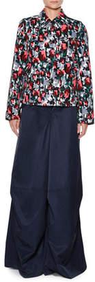 Marni Calla-Print Cotton Drill Button-Front Jean Jacket