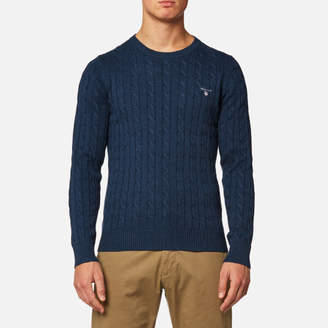 Gant Men's Cotton Cable Knitted Jumper