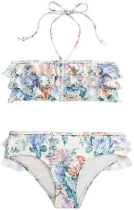 Zimmermann Verity Frill Bandeau Bikini