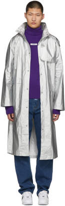 ADER error Silver Dazzler Rain Coat
