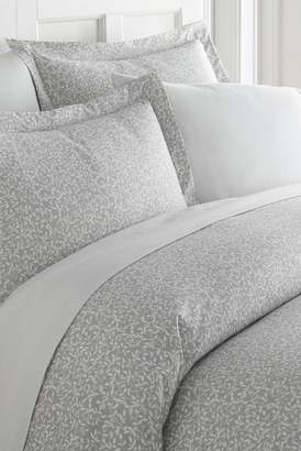 IENJOY HOME Home Spun Premium Ultra Soft 2-Piece Vine Trellis Print Duvet Cover Twin Set - Gray