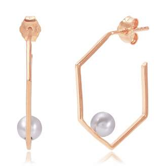 Neola - Rose Gold Earrings With Pearl Minerva