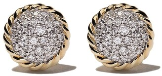 David Yurman 18kt yellow gold Petite Pavé diamond stud earrings