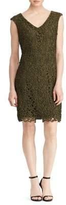 Lauren Ralph Lauren Scalloped-Lace Sheath Dress