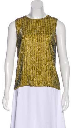Diane von Furstenberg Yvana Embellished Sleeveless Top