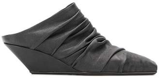 Rick Owens ruche-styled mules