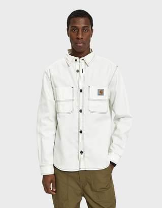 Carhartt Wip Chalk Button Up Shirt in Wax