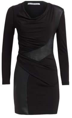 Alexander Wang Leather Detail Jersey Dress