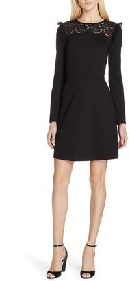 Kate Spade lace yoke a-line dress