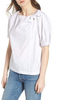 7 For All Mankind Knot Neck Top