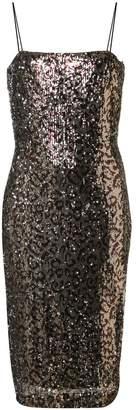 Milly leopard print glitter dress