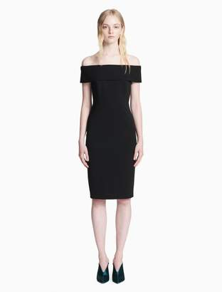 Calvin Klein off-shoulder sheath dress