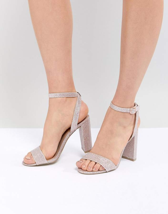 New Look Shimmer Block Heel Sandal