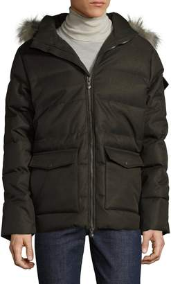 Pyrenex Men's Raccoon Fur-Trimmed Quilted Jacket
