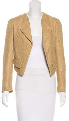 Saint Laurent Woven Silk Blazer