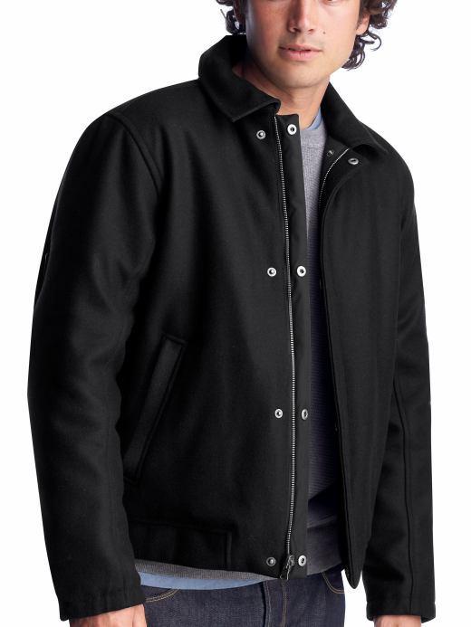 Reversible wool-nylon jacket