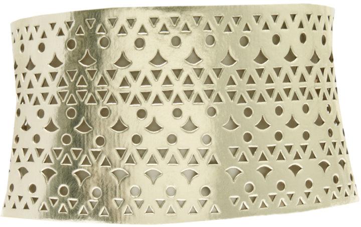 Kate Moss Metallic Chop Out Corset Belt
