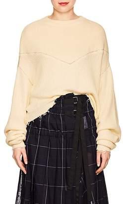 Taverniti So Ben Unravel Project Women's Cotton-Cashmere Crop Sweater