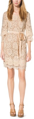 Michael Kors Scalloped-Lace Shift Dress