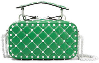 Valentino Garavani The Rockstud Spike Quilted Leather Shoulder Bag - Green