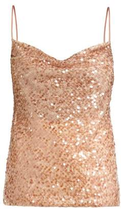 Galvan - Whiteley Sequin Embellished Camisole - Womens - Copper