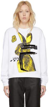 McQ White Bunny Slouch Sweatshirt