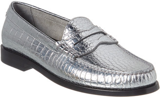 Celine Luco Metalized Leather Loafer