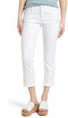 Wit & Wisdom Flex-ellent Cuffed Boyfriend Jeans (Optic White) (Nordstrom Exclusive)