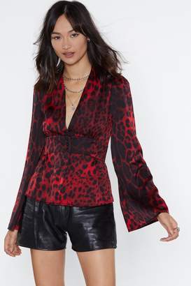 Nasty Gal Deeper and Down Leopard Blouse