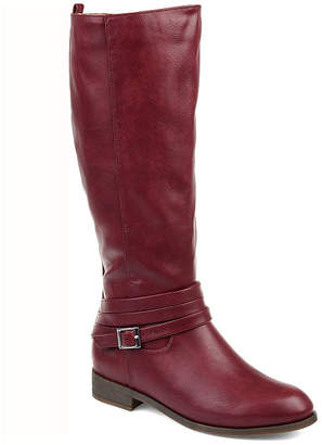a6898c537 Journee Collection Womens Ivie Stacked Heel Zip Riding Boots