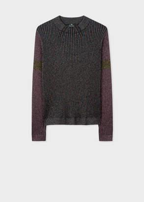 Paul Smith Women's Ribbed Glitter Wool-Blend Long-Sleeve Sweater