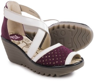 Fly London Ynes Wedge Sandals - Leather (For Women) $89.99 thestylecure.com