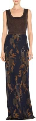 St. John Glitter & Shine Jacquard Knit Gown