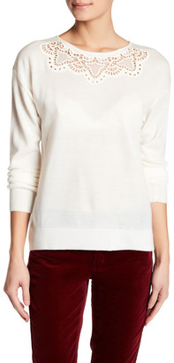 Joe Fresh Embroidered Knit Long Sleeve Sweater $34 thestylecure.com