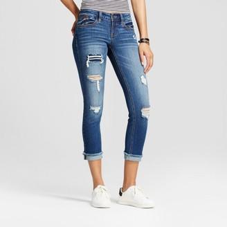 Dollhouse Women's Destructed Raw Hem Skinny Crop Jeans - Dollhouse® (Juniors') $32.99 thestylecure.com
