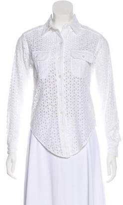 See by Chloe Embroidered Button-Up Blouse