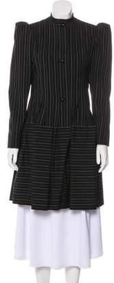 Galanos Vintage Pinstriped Coat