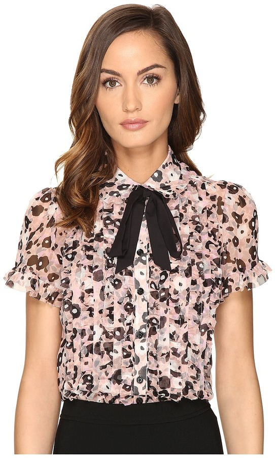 Kate SpadeKate Spade New York - Posy Grove Chiffon Shirt Women's Clothing