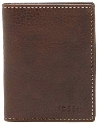 Fossil Lincoln Leather Billfold Case