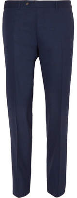 Canali Navy Slim-Fit Mélange Stretch-Wool Suit Trousers