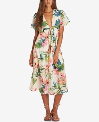 Billabong Juniors' Rolling Seas Printed Cotton Midi Dress