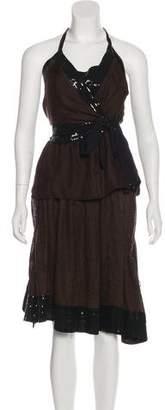Robert Rodriguez Silk Two-Piece Skirt Set