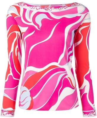 Emilio Pucci printed long sleeved blouse
