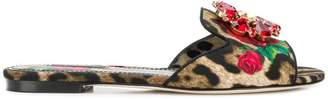 Dolce & Gabbana embellished sliders