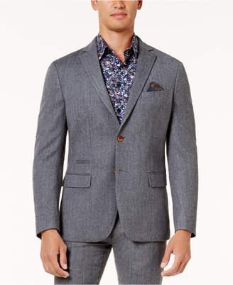 Tallia Men's Slim-Fit Light Gray Herringbone Sport Coat