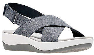 Clarks CLOUDSTEPPERS BY Arla Kaydin Wedge Slingback Sandals