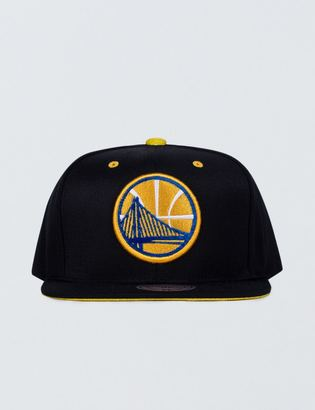 Mitchell & Ness Golden State Warriors Solid Velour Logo Snapback $35 thestylecure.com
