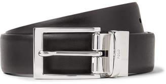 Polo Ralph Lauren 3cm Black And Dark-Brown Reversible Leather Belt